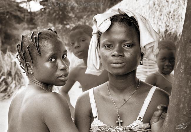Deux belles femmes de Benin