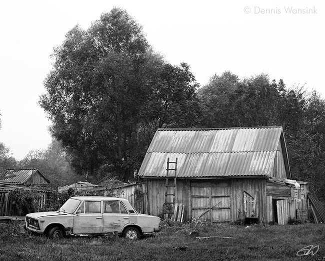 The old car and the shed